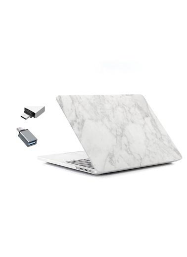 """Mcstorey Yeni MacBook Pro Type-c A1707 A1990 15.4"""" Kılıf Kapak Hard case Mermer Renkli"""